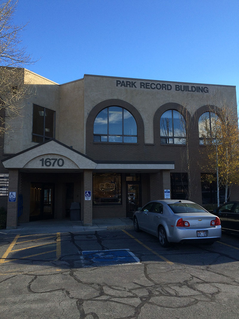 Located in the Park Record Building